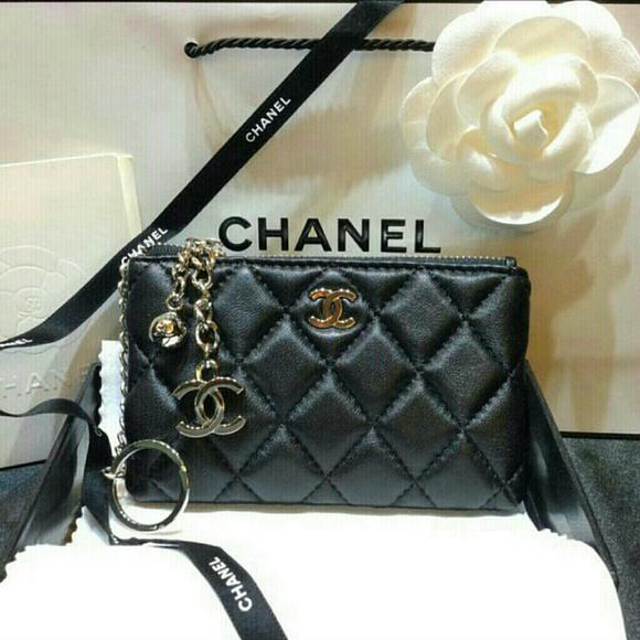 e61ac2ccffe3 CHANEL Bags   Lambskin Leather Key Chain Charm Wallet Vip   Poshmark